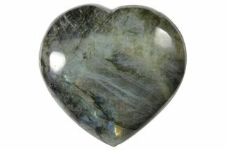 "Buy 3.8"" Flashy Polished Labradorite Heart - Madagascar - #126670"