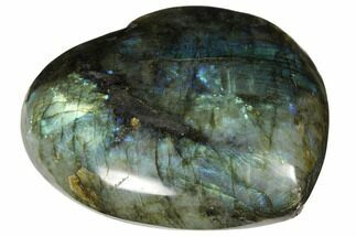 "4.1"" Flashy Polished Labradorite Heart - Madagascar For Sale, #126683"
