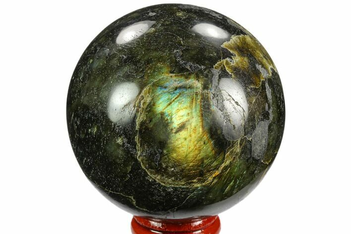 "Bargain, 2.7"" Polished Labradorite Sphere - Madagascar"