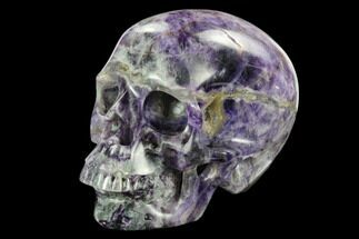 "Buy 5.9"" Realistic, Carved Purple Fluorite Skull - China - #127576"