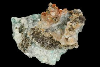 Aurichalcite & Calcite - Fossils For Sale - #127236