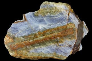 "4.1"" Polished Blue Lace Agate Slice - South Africa For Sale, #128429"