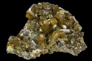 "3.7"" Yellow Barite Crystal Cluster - China For Sale, #128549"