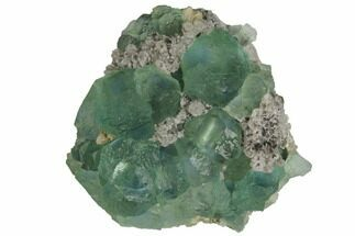 "2.5"" Light-Green Fluorite Crystals on Quartz - China For Sale, #128798"