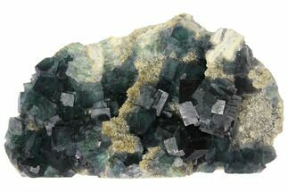 Fluorite & Quartz - Fossils For Sale - #128871