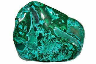 "3.9"" Polished Chrysocolla and Malachite - Congo For Sale, #129554"