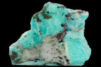 Microcline var. Amazonite & Quartz var. Smoky - Fossils For Sale - #129918