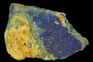 "Buy 3.5"" Sparkling Druzy Azurite on Limonitic Rock - Morocco - #128167"
