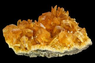 "Buy 6.8"" Orange Selenite Crystal Cluster (Fluorescent) - Peru - #130513"