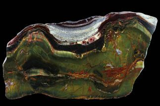 "Buy 12.2"" Marra Mamba Tigers Eye Slab - Mt. Brockman (2.7 Billion Years) - #131167"