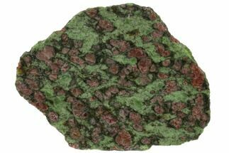"Buy 3.4"" Pyrope, Forsterite, Diopside & Omphacite Slice - Norway - #131440"