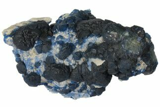 "Buy 4.2"" Dark Blue Fluorite on Quartz - China - #131428"