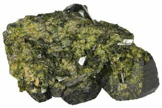 "1.3"" Epidote Crystal Cluster - Peru For Sale, #132605"