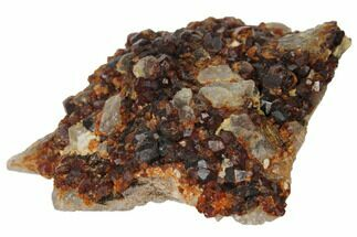 "2.3"" Spessartine Garnets & Smoky Quartz on Feldspar - China For Sale, #132761"