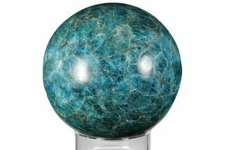 "4.35"" Bright Blue Apatite Sphere - Madagascar For Sale, #133091"
