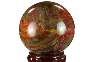 "Buy 4.2"" Colorful Petrified Wood Sphere - Madagascar - #133831"