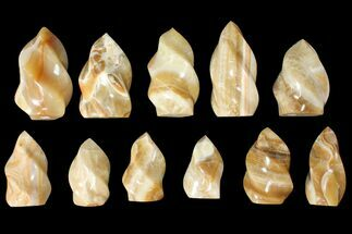"Buy Wholesale Lot: 3-5"" Polished Calcite ""Flames"" - 11 Pieces - #133858"
