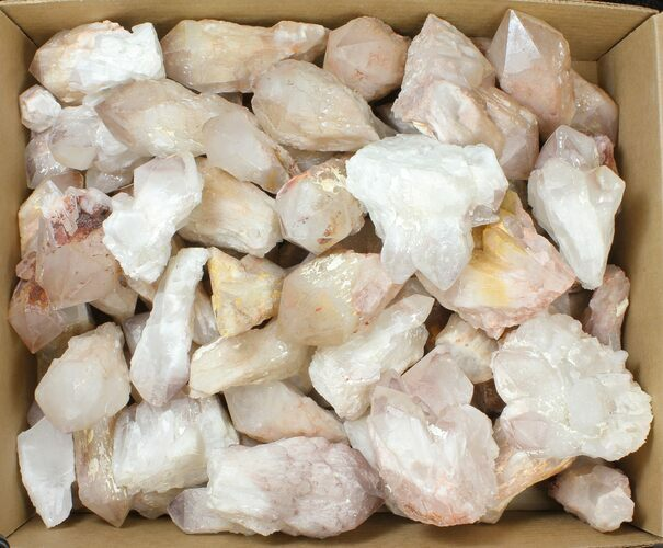 "Wholesale: 2"" to 4.3"" Pineapple (Milky) Quartz Points - 105 pieces"