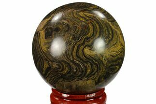 "1.85"" Polished Stromatolite (Greysonia) Sphere - Bolivia For Sale, #134714"