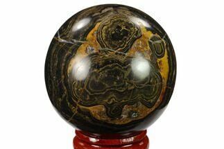 "2"" Polished Stromatolite (Greysonia) Sphere - Bolivia For Sale, #134717"