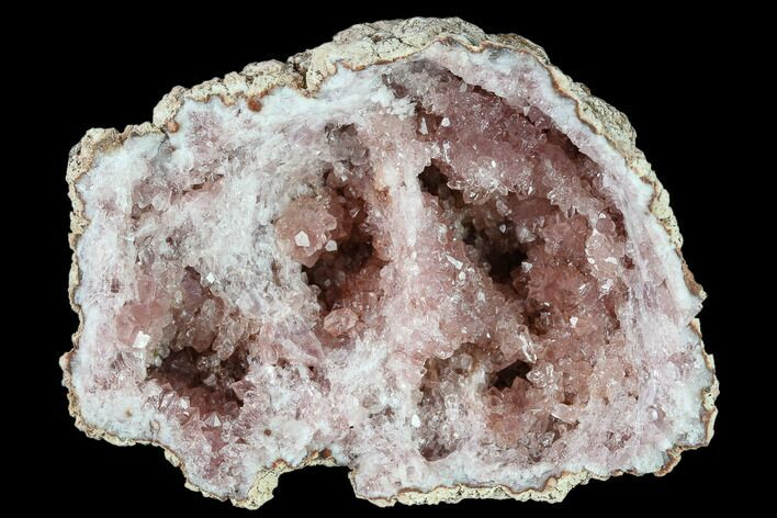 "2.5"" Pink Amethyst Geode Section - Argentina"