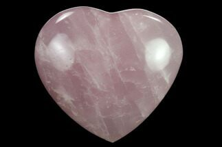 "2.55"" Polished Rose Quartz Heart - Madagascar For Sale, #134792"