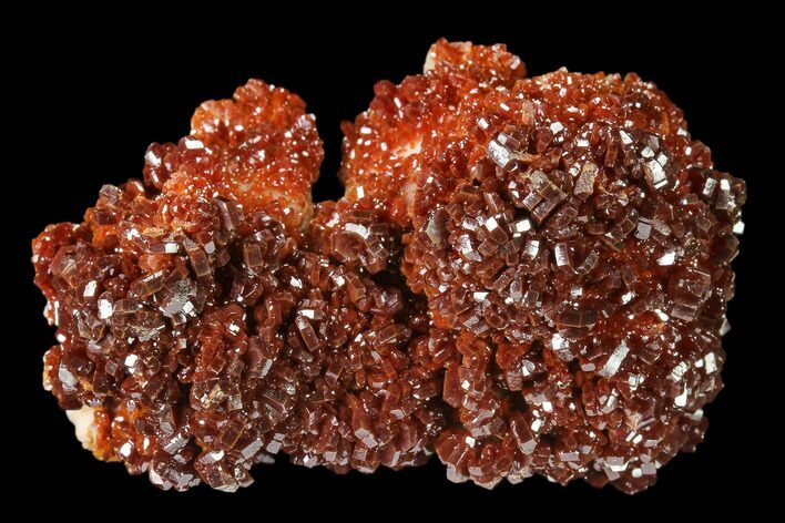 "2.1"" Ruby Red Vanadinite Crystals on Barite - Morocco"