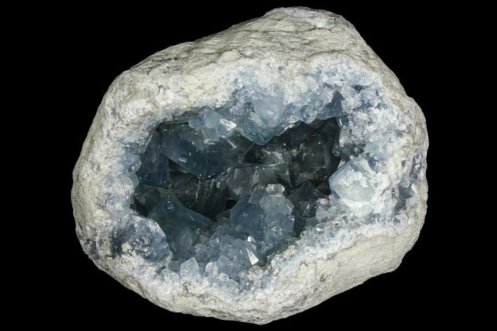 "Gorgeous, 8.1"" Sky Blue Celestine (Celestite) Geode - Large Crystals!"