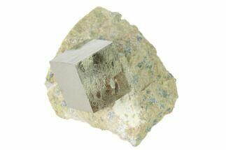 ".61"" Pyrite Cube In Matrix - Navajun, Spain For Sale, #136706"