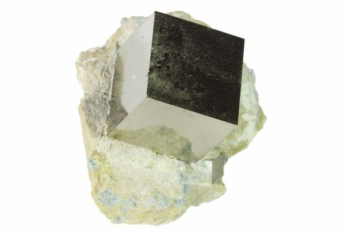 ".6"" Pyrite Cube In Matrix - Navajun, Spain"