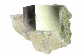 ".64"" Pyrite Cube In Matrix - Navajun, Spain For Sale, #136712"