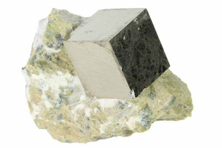 ".61"" Pyrite Cube In Matrix - Navajun, Spain"
