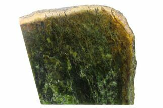 "5.9"" Polished Canadian Jade (Nephrite) Slab - British Colombia For Sale, #137294"