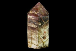 "6.35"" Colorful, Polished Petrified Wood Obelisk - Triassic For Sale, #137414"