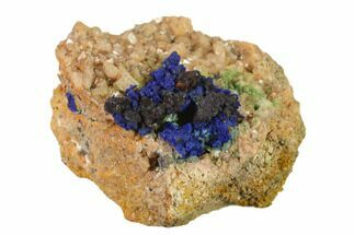 Azurite, Dolomite & Malachite - Fossils For Sale - #137421