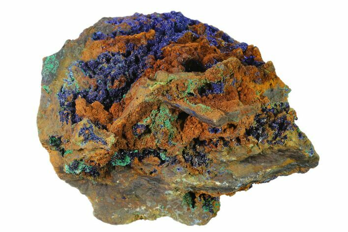 "4.6"" Druzy Azurite Crystals on Matrix - Morocco"
