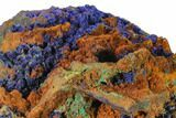 "4.6"" Druzy Azurite Crystals on Matrix - Morocco - #137432-2"