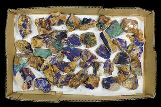 Buy Wholesale Lot: Azurite & Malachite Clusters - 39 Pieces - #137908
