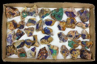 Wholesale Lot: Azurite & Malachite Clusters - 36 Pieces For Sale, #137912