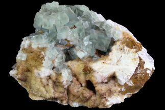 "4.2"" Lustrous, Green, Cubic Fluorite On Quartz - Morocco For Sale, #138257"
