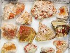 "Lot: 2-3"" Bladed Barite With Vanadinite - 20 Pieces - #138191-2"