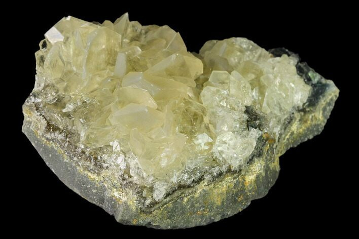 "3.4"" Calcite Crystal Cluster with Green Fluorite - China"