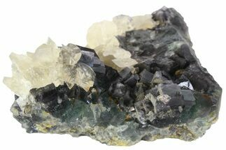 "4.2"" Green Fluorite and Yellow Calcite Association - Fluorescent! For Sale, #138713"