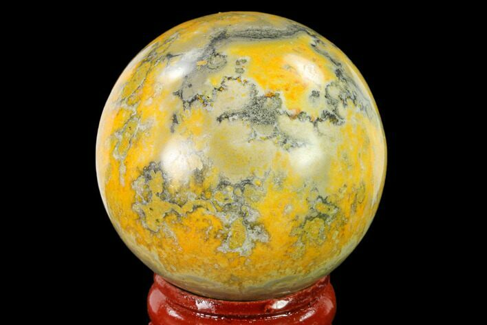 "1.7"" Polished Bumblebee Jasper Sphere - Indonesia"