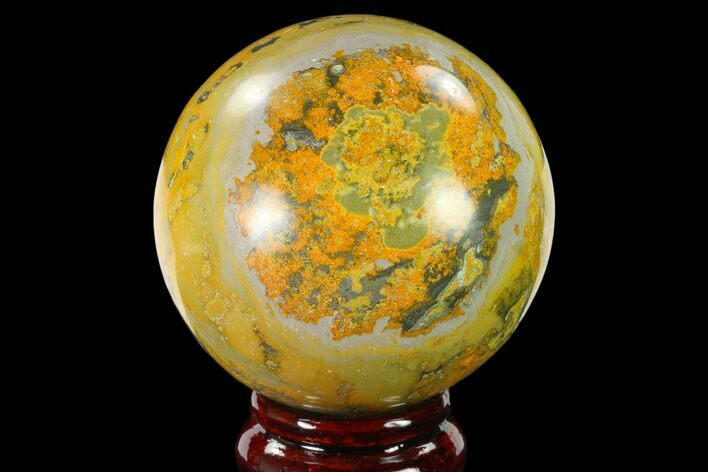 "2.7"" Polished Bumblebee Jasper Sphere - Indonesia"