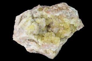 "Buy 3.1"" Yellow Cubic Fluorite Crystal Cluster with Quartz - Morocco - #141643"