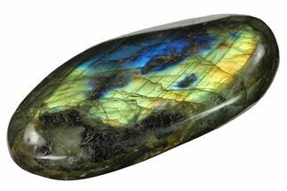 "Buy 3.5"" Flashy, Polished Labradorite Palm Stone - Madagascar - #142825"