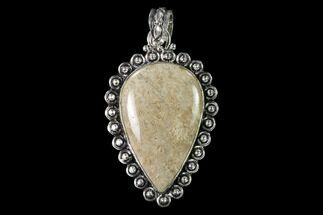 20 Million Year Old Fossil Coral Pendant - Indonesia For Sale, #143696