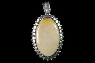20 Million Year Old Fossil Coral Pendant - Indonesia For Sale, #143702