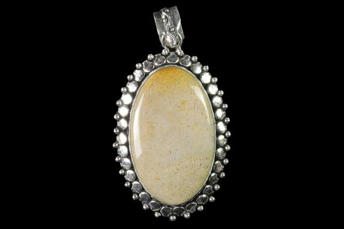 20 Million Year Old Fossil Coral Pendant - Indonesia